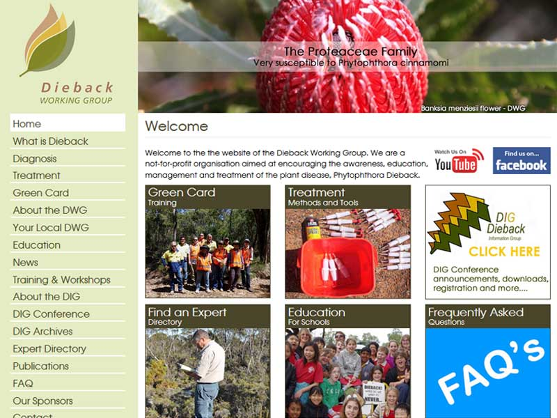 Dieback Working Group Website