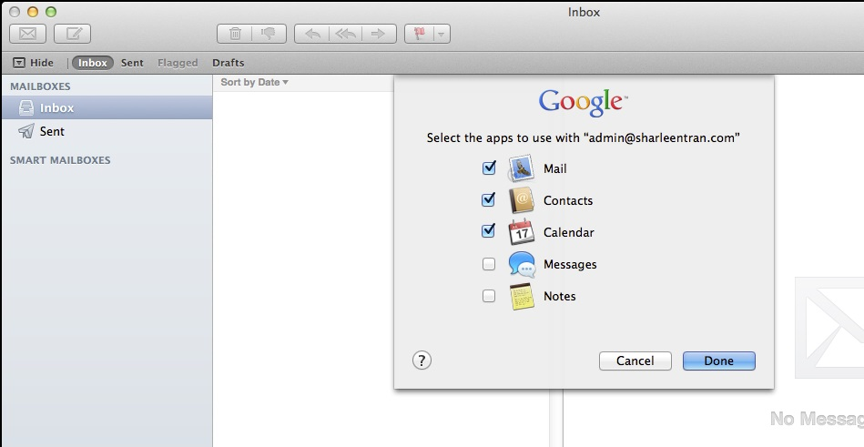 gapps applemail2