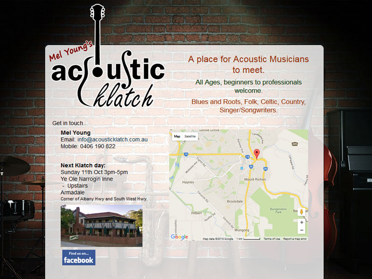 Acoustic Klatch Website Armadale