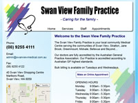 Swan View Medical Website