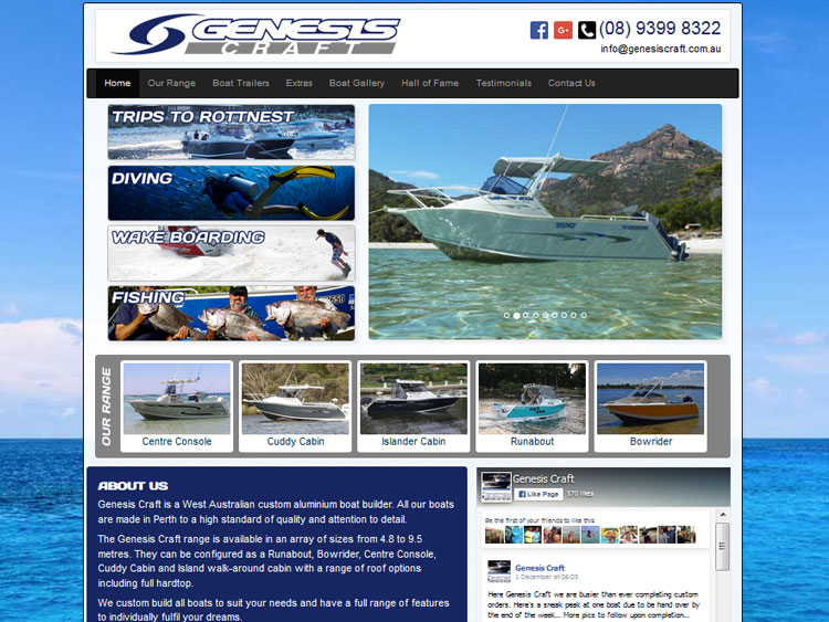 Genesis Craft Perth Boat Website